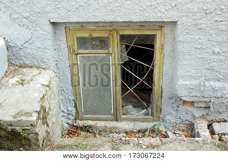 Window Of Abandoned Building
