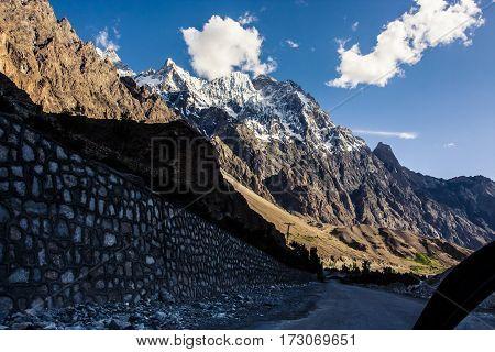 View Along The Karakoram Highway In Northern Pakistan