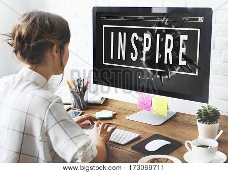 Creativity Inspire Minimalistic Idea Graphic Word
