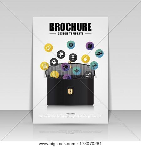 Brochure cover design. Flyer poster booklet template. Vector illustration