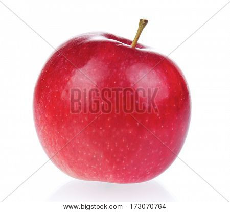 Fresh ripe red apple on white background