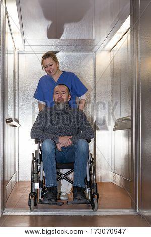 Nurse Is Shoving A Patient