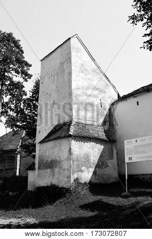 Medieval fortified saxon church Bunesti, Transylvania, Romania.