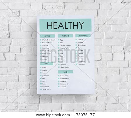 Healthy wellness foods planing list