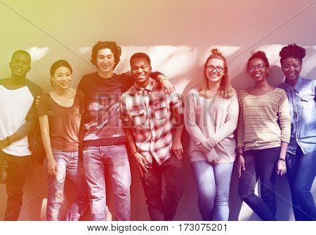 Photo Gradient Style with Friends People Group Teamwork Diversity