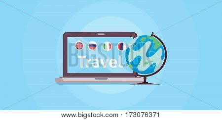 Popular tourist destinations in the world. international travel. Online travel.