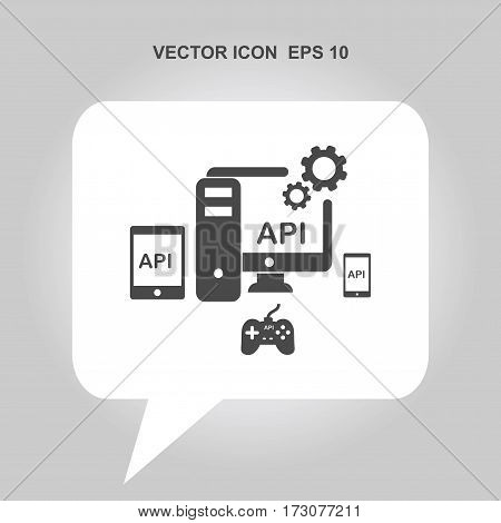 API application programming interface Icon, API application programming interface Icon Eps10, API application programming interface Icon Vector, API application programming interface Icon Eps