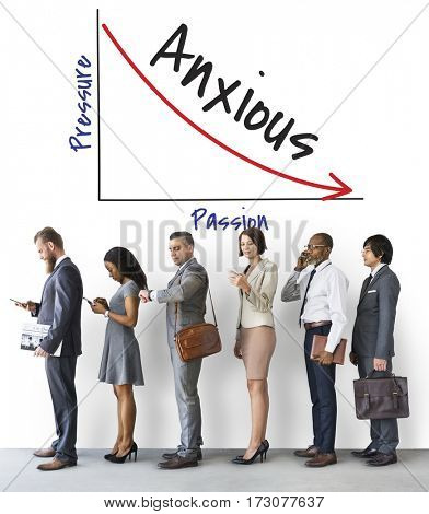 Business People Anxious down trend