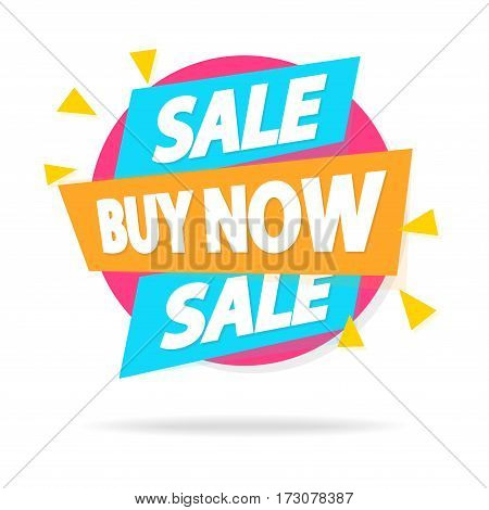 Sale sticker with sign sale buy now special offer for special offer, advertisement tag, sale, big sale, mega sale, hot price, discount poster isolated on white background. Vector Illustration