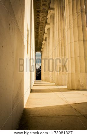 Large Marble columns in Washington D.C. USA