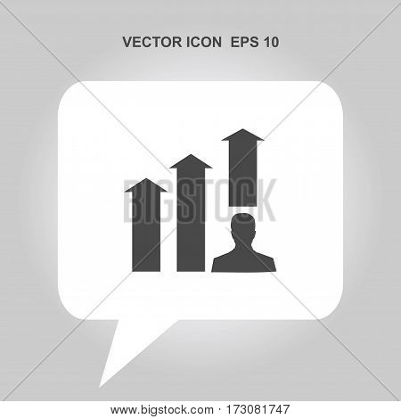 man with growing graph Icon, man with growing graph Icon Eps10, man with growing graph Icon Vector, man with growing graph Icon Eps, man with growing graph Icon Jpg, man with growing graph Icon Picture
