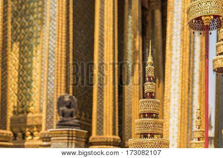 grade palace decoration on wall in Bangkok, Asia