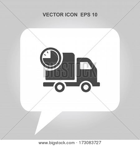 fast delivery truck with timer Icon, fast delivery truck with timer Icon Eps10, fast delivery truck with timer Icon Vector, fast delivery truck with timer Icon Eps, fast delivery truck with timer Icon Jpg