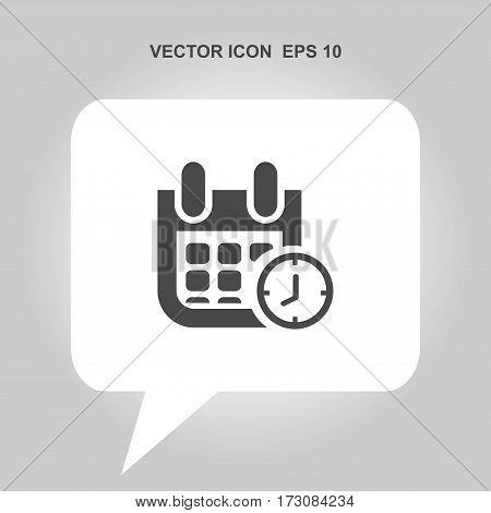 calendar with clock Icon, calendar with clock Icon Eps10, calendar with clock Icon Vector, calendar with clock Icon Eps, calendar with clock Icon Jpg, calendar with clock Icon Picture