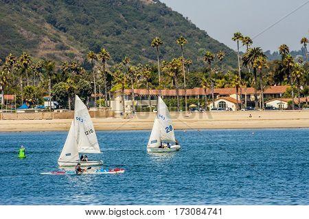 Sailing In Santa Barbara