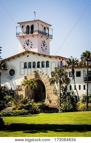 The Old courthouse in Santa Barbara California