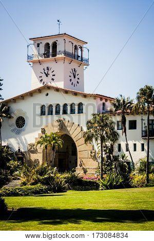 The Old courthouse in Santa Barbara California