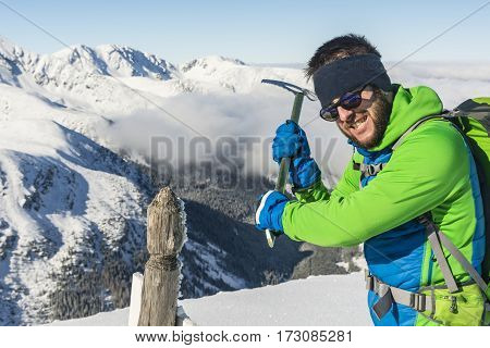 Tourist With Ice Axe.