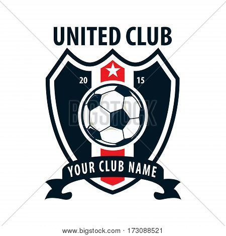 Football badge logo template design soccer team vector illuatration