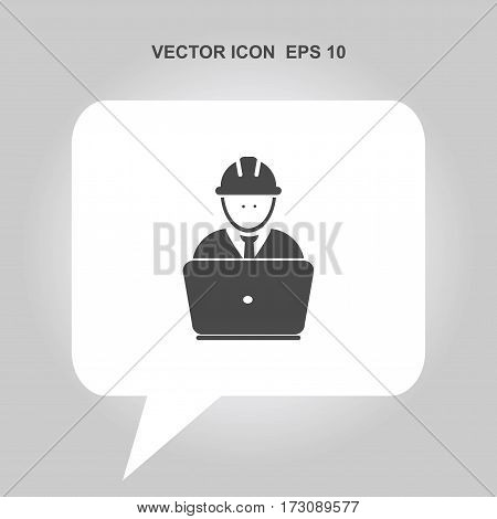 worker working in computer Icon, worker working in computer Icon Eps10, worker working in computer Icon Vector, worker working in computer Icon Eps, worker working in computer Icon Jpg