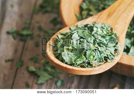 Dried And Chopped Celery Leaves