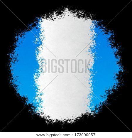 Color spray stylized flag of Guatemala on black background