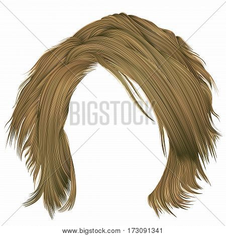 trendy woman disheveled hairs blond  colors .  beauty fashion .  realistic 3d