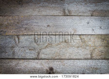 Blank Old Rustic Wooden Table. Darkening At The Edges, Vignette