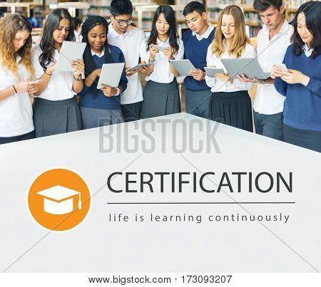 Distance learning online education webpage