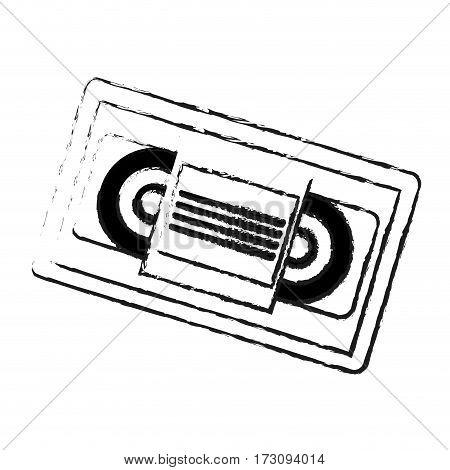 video tape icon image vector illustration design