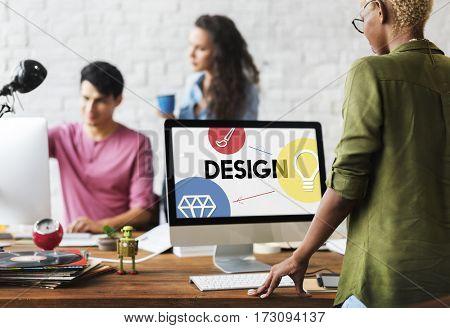 Creativity artistic ideas icon graphic