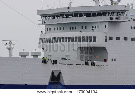 FERRY PASSENGER/CAR - Bow of the ship and the captain's bridge