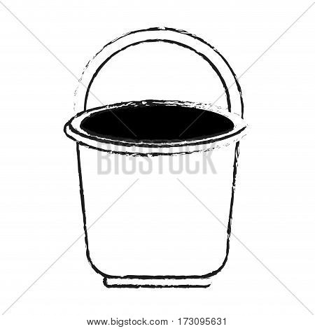 bucket with handle icon image vector illustration design
