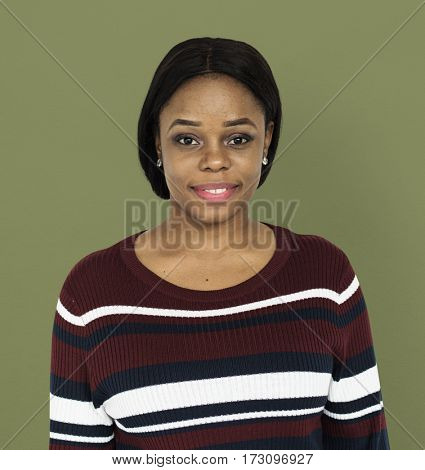 Woman Portrait Studio Shoot Smiling