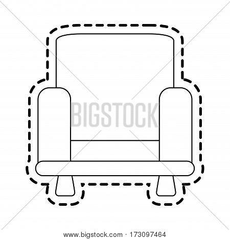 armchair sofa icon image vector illustration design