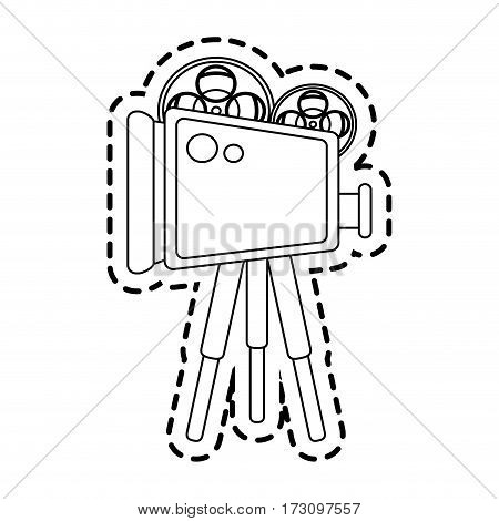 film projector icon image vector illustration design