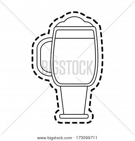 glass of beer icon image  sticker vector illustration design