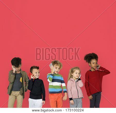 Little Children Using Smart Phone
