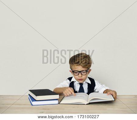 Little Child Posing Working