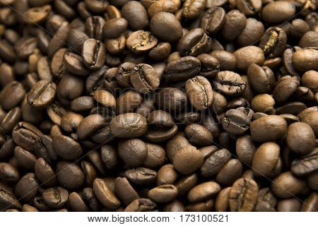 Beautifull coffee beans.Fried Arabica ready to became your good day.