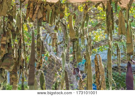 image of Texture Thailand military camouflage nets .