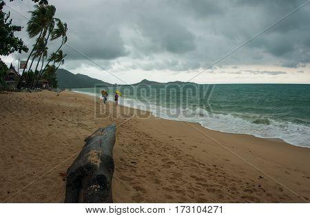Beautiful seascape at Lamai beach on Samui island in Thailand