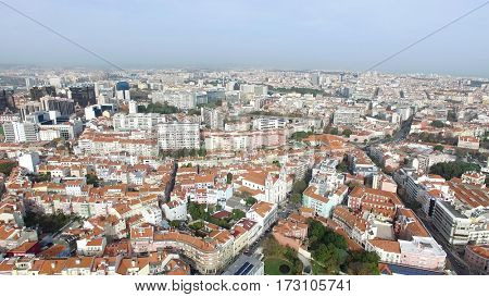 Aerial View of Lisbon, Portugal