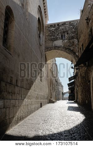 Corners of Jerusalem streets yards and the holy places of Israel's capital