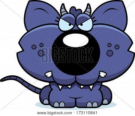 Cartoon Angry Chupacabra