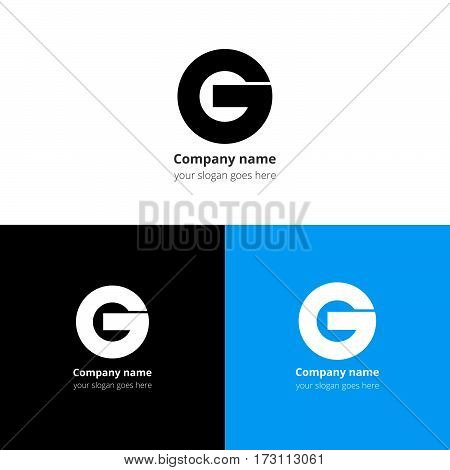 Letter G logo or icon. Creative vision concept logo or icon vector elements design template for company, web site,firm, fliers, banners, cards, covers, poster.