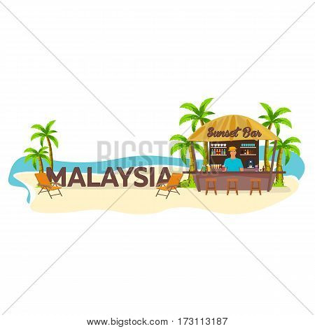 Malaysia. Travel. Palm, Drink, Summer, Lounge Chair, Tropical.