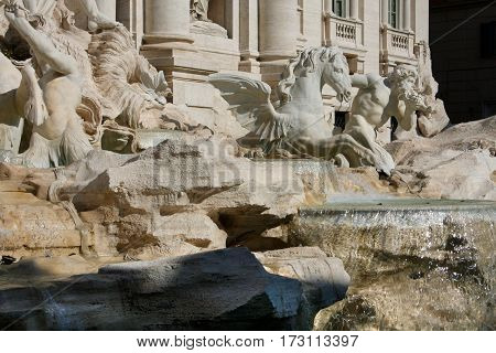 Rome. Image of famous Trevi Fountain in Rome Italy.