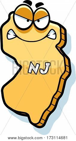 Cartoon Angry New Jersey