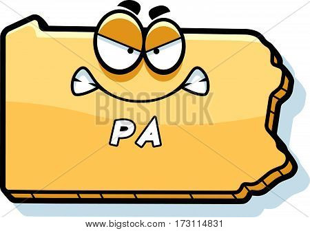 Cartoon Angry Pennsylvania